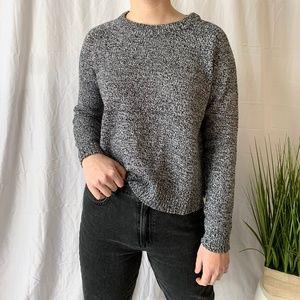 H&M Salt & Pepper Crew Neck Knit Sweater Small